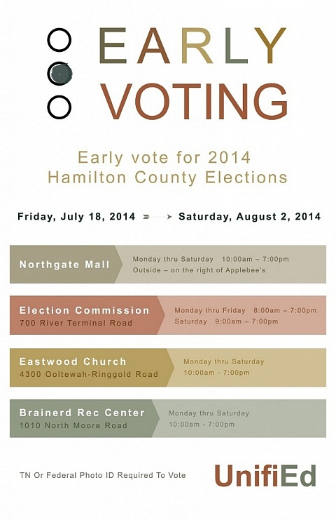 UnifiEd Early Voting Poster