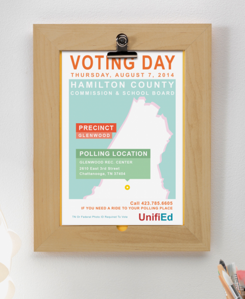 UnifiEd Voting Day Poster