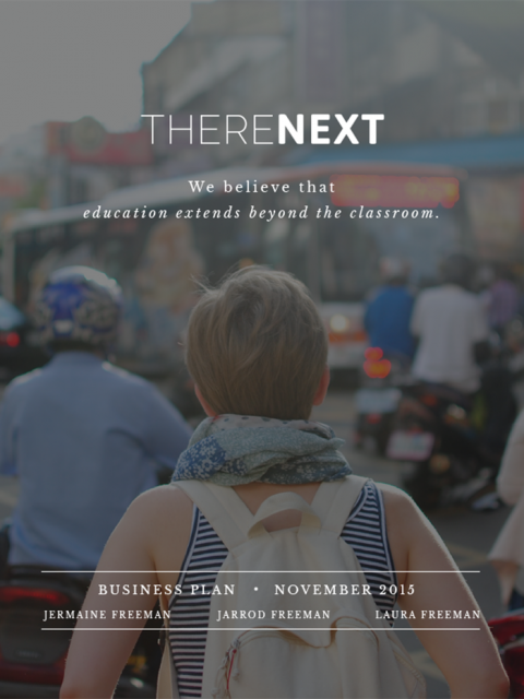 Cover for ThereNext Business Plan