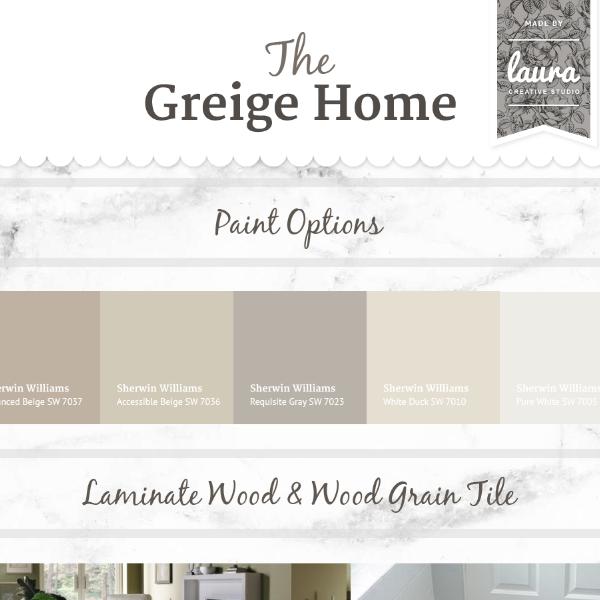The Greige Home  |  Mood Board