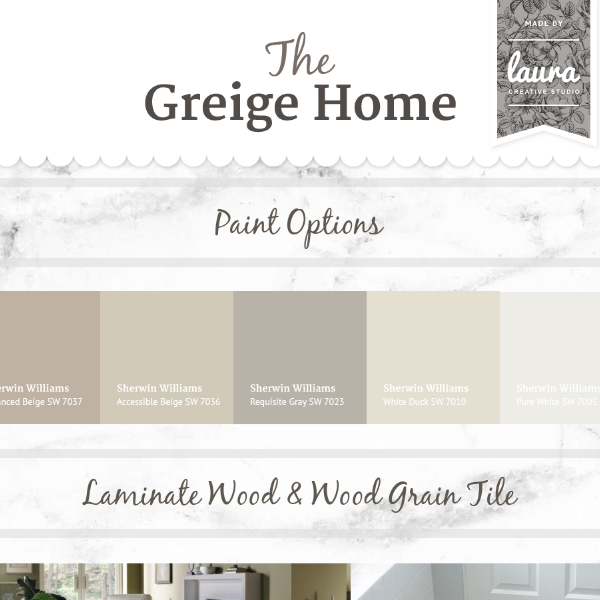 The Greige Home  |  Mood Board