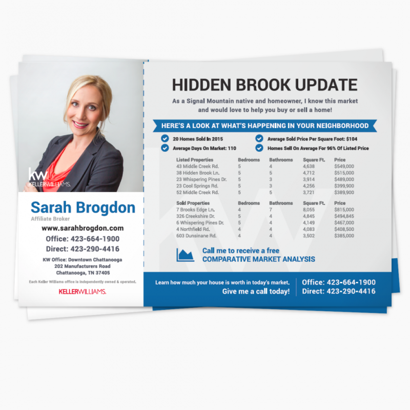 Print Marketing Material for Sarah Brogdon