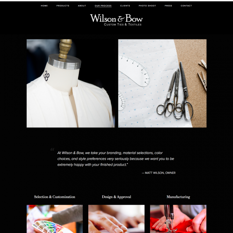Wilson & Bow's Website