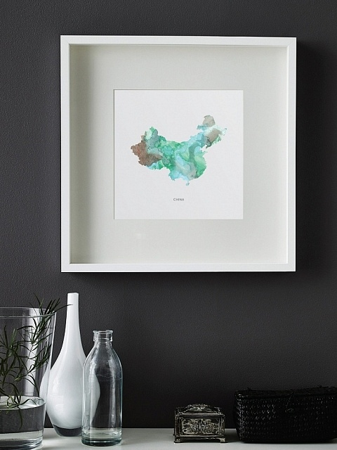 Handpainted Watercolor Map